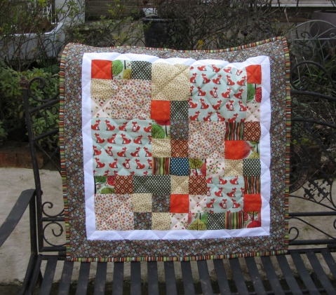 Little Foxes patchwork quilt