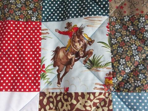 cowboy patchwork quilt