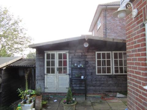 before - wooden summerhouse