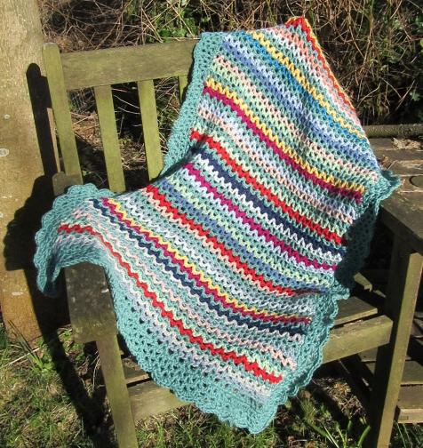 v-crochet lap blanket